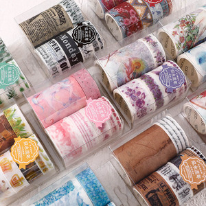 7 Pcs/Set Vintage Newspaper Washi Tape Retro Masking Tape Decorative Adhesive Tape Sticker Scrapbooking Diary Stationery