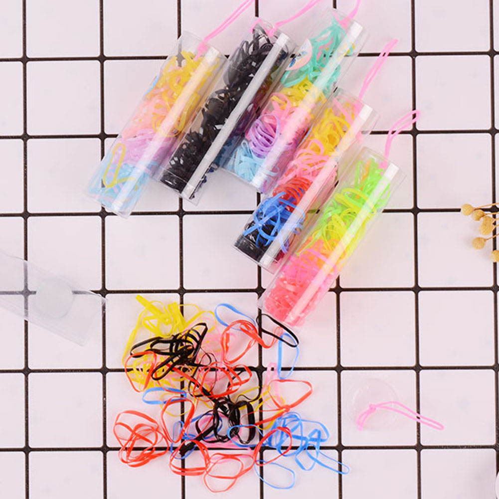 Candy Color Hair Ropes Child Kids Ponytail Holder Disposable Elastic Rubber Hair Bands Girls Tie Gum Braids Hair Accessories