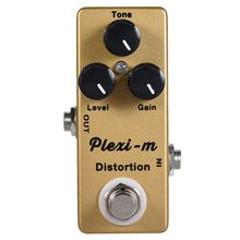 MOSKY Plexi-m Electric Guitar Distortion Effect Pedal Guitar Parts Full Metal Shell True Bypass mooer full metal shell effects micro hustle drive distortion guitar effect pedal with 2 working modes true bypass