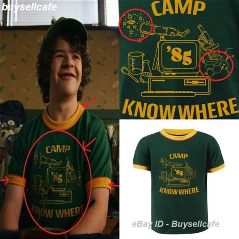 Stranger Things 3 Dustin T-Shirt Camp 85 Know Where Men TShirt Cosplay Tee Top