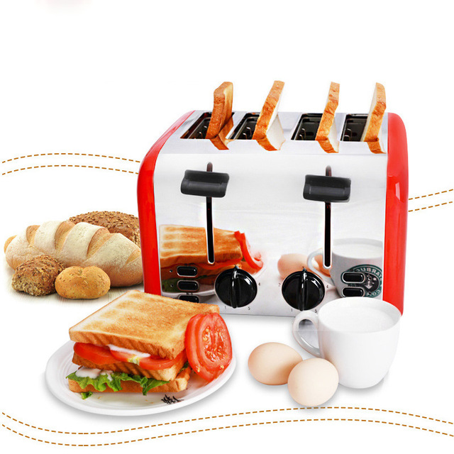 Commercial 4-slice Toaster Breakfast Machine Fully Automatic Toast Maker Household Bread Roasting Machine TR-2202 2