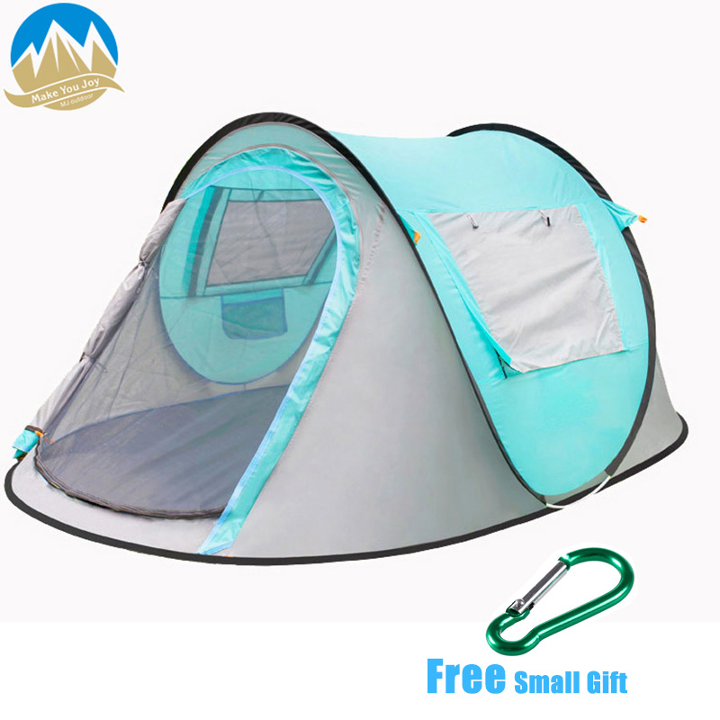 MYJ 2-3 osoba One touch szybkie otwieranie namiotu automatyczny lekki namiot turystyczny Sunshelter składany namiot kempingowy sprzęt namioty