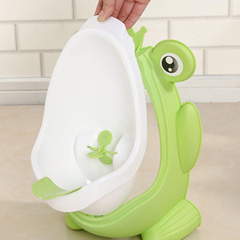 bebe bonito criancas dos desenhos animados sapo potty treinamento mictorio para meninos toalete com alvo engracado