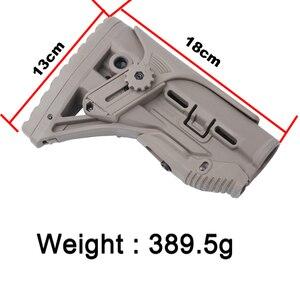 Image 5 - Freien Taktische Nylon Einstellbare Erweiterten Lager für Paintball Zubehör Airsoft Air Gun AEG M4 AK Gel Blaster J8 J9 CS sport
