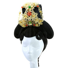 Princess party dress up halloween cosply imperatriz rainha de cabelo headwear chinês antigo real cosplay