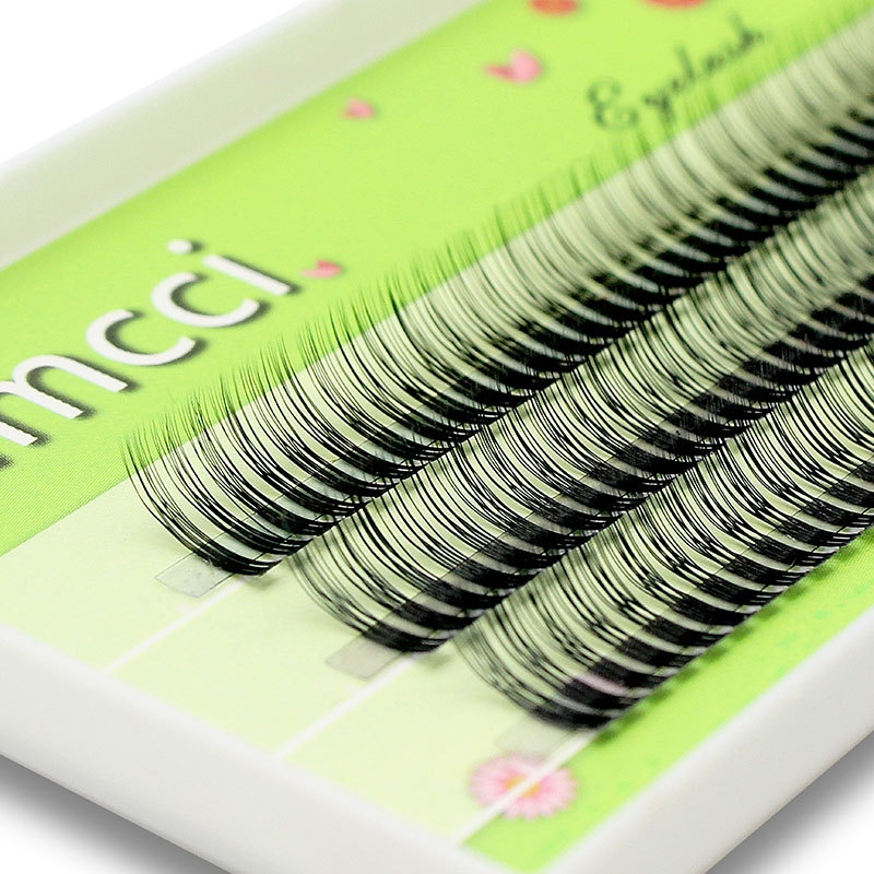 Kimcci 120 Bundles 2 Layers 3D Eyelash Extension Natural Russian Volume Faux Eyelashes Individual Cluster Lashes Makeup Cilios