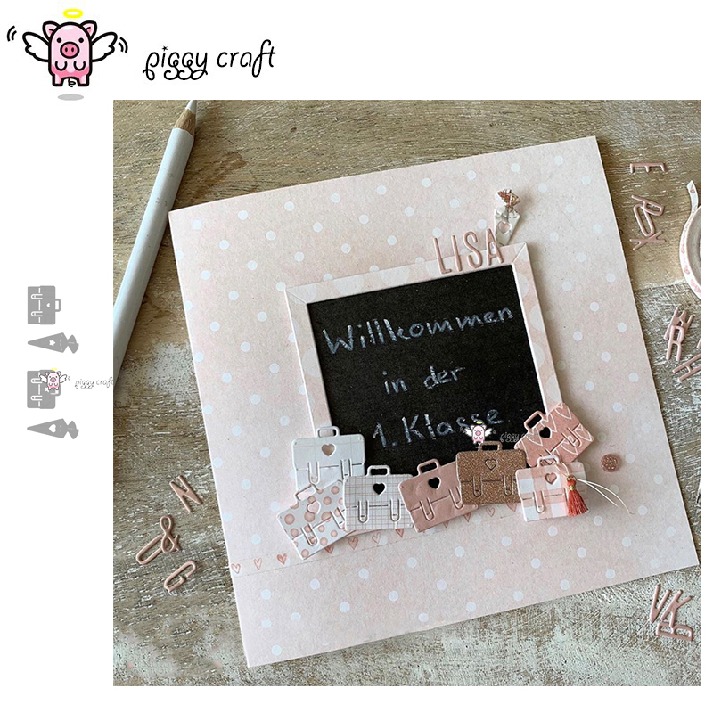 Piggy Craft Metal Cutting Dies Cut Die Mold Heart Star Radish Handbag Scrapbook Paper Craft Knife Mould Blade Punch Stencils Die