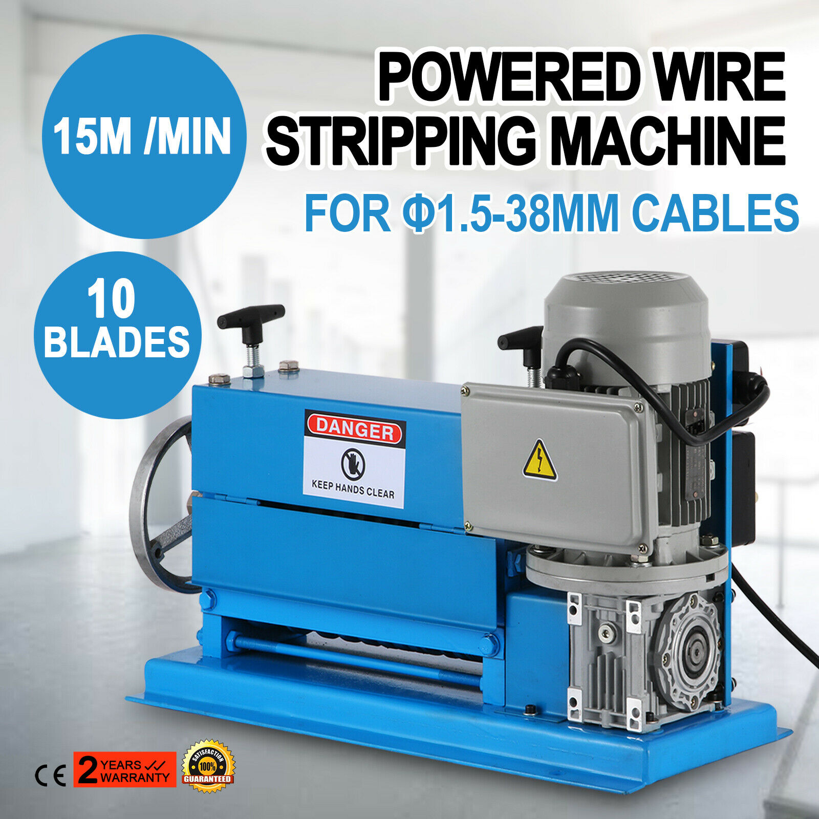 220V Portable Powered Electric Wire Stripping Machine Scrap Cable Stripper