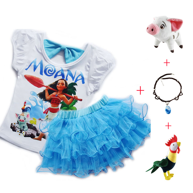 Cartoon Trolls Poppy Princess Dress Cosplay Costume Party Girls Skirt Xmas Gift