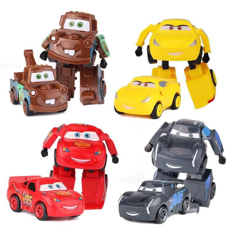 Disney Pixar Cars Deformation Lightning McQueen Mater Jackson Storm Ramirez Diecast Vehicle Boy Kid Toys Christmas Gift