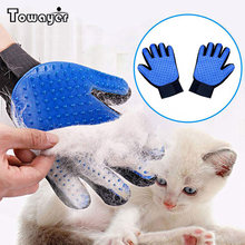 Gant de toilettage pour chat et chien, brosse pour éliminer les poils, nettoyage, Massage