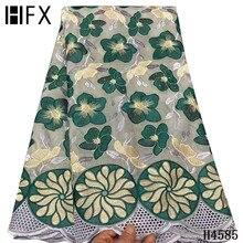 HFX africain dentelle tissu 2021 suisse français nigérian dentelle tissus haute qualité 100% coton tissus suisse voile dentelle mariage