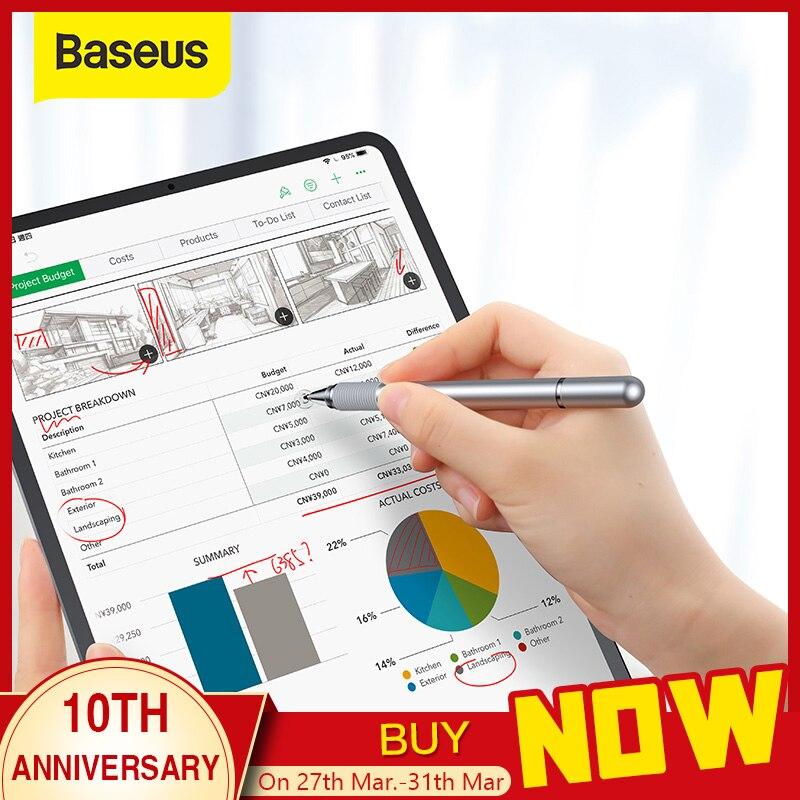 Baseus universal caneta stylus tela multifuncional caneta de toque capacitivo caneta de toque para ipad iphone samsung xiaomi huawei tablet