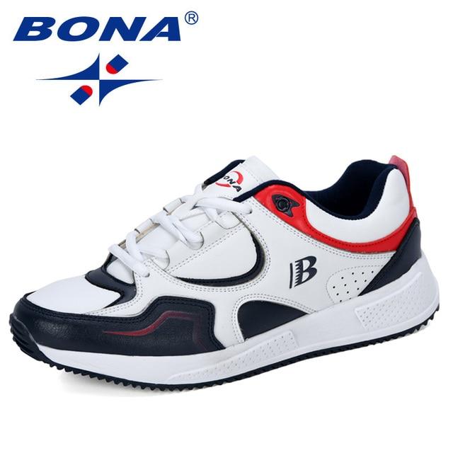 بونا جديد مصمم بقرة سبليت احذية الجري أحذية رياضية الرجال ترتد في الهواء الطلق أحذية رياضية أحذية تدريب المهنية رجل عصري