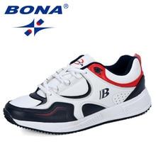 BONAออกแบบใหม่วัวแยกรองเท้าวิ่งผู้ชายรองเท้าผ้าใบBounceกีฬากลางแจ้งรองเท้าการฝึกอบรมรองเท้าอินเทรนด์