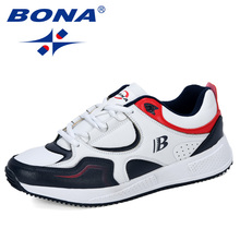 BONA New Designer Cow Split Running Shoes Men Sneakers Bounce Outdoor Sport Shoes Professional Training Shoes Man Trendy