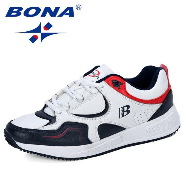 BONA החדש מעצב פרה פיצול ריצה נעלי גברים סניקרס להקפיץ חיצוני ספורט נעלי מקצועי אימון נעלי גבר אופנתי