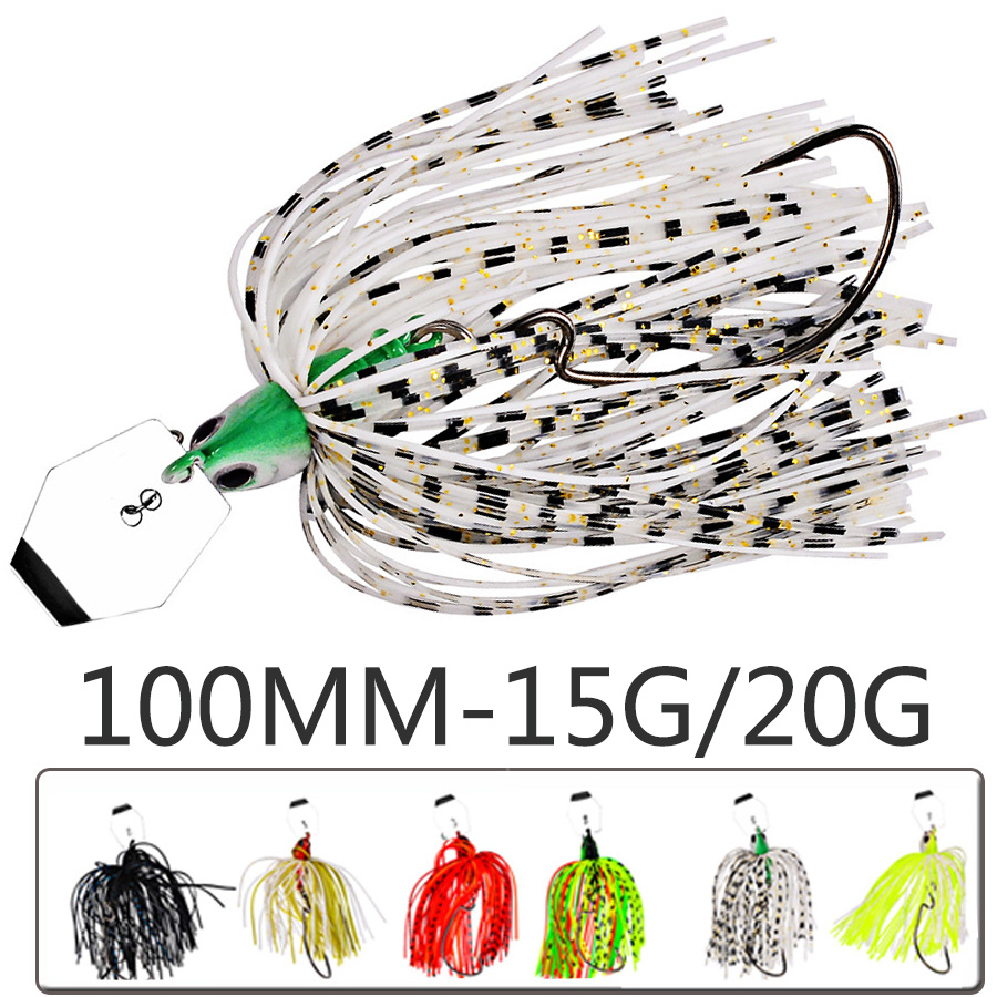 1pcs Chatterbait Tackle Fishing Lure Spinnerbait Buzz Artificial Bait Isca Walleye Fish Bass Pike Wobbler For Trolling Swimbait-0