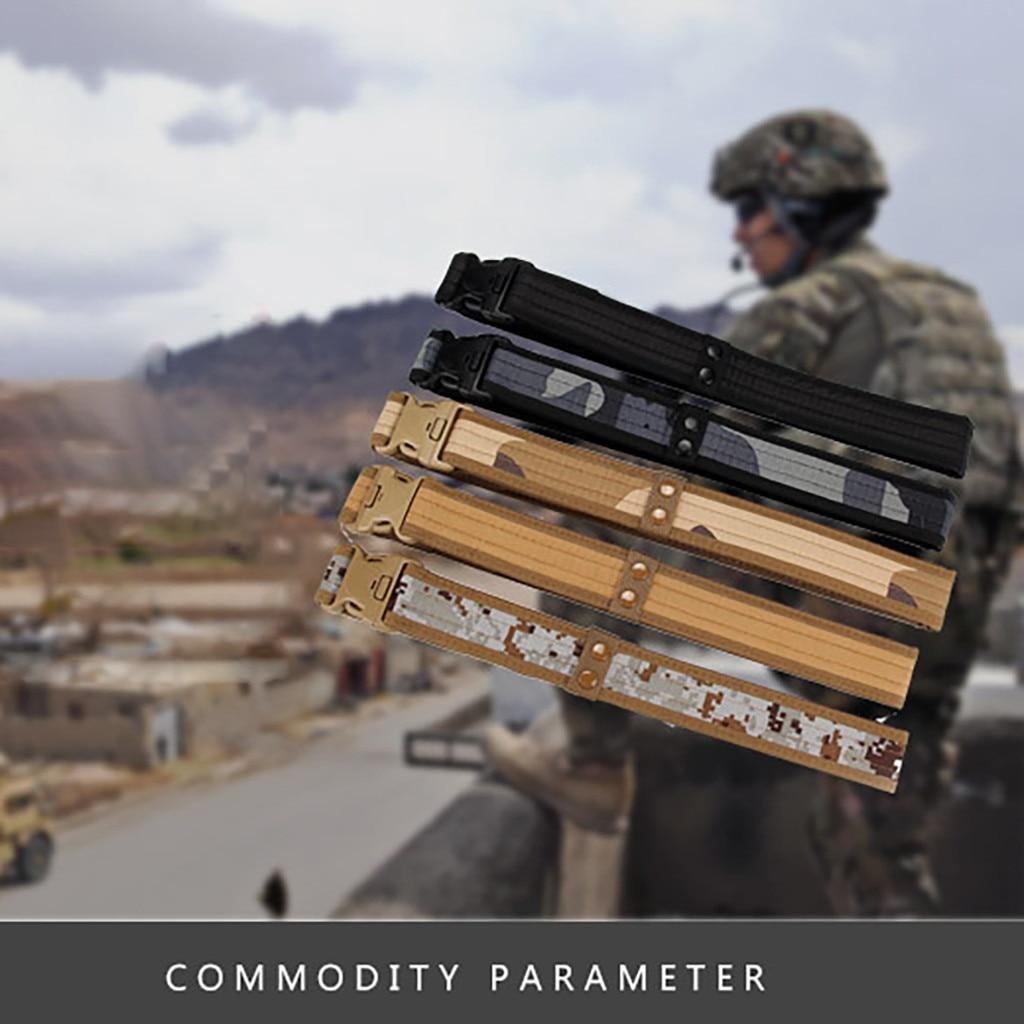 Luxury Designer Belts For Jean Tactical Heavy Duty Us Soldier Men Military Belt Web Combat Training Belt Fashion Student Simple