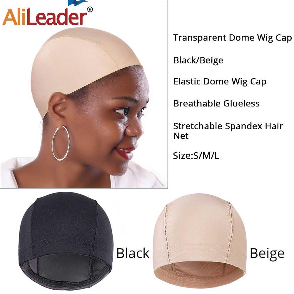AliLeader 50 قطعة قبعات للشعر المستعار لصنع الباروكات غطاء مقبب تمتد غلويليس الشعر نسج صافي مرونة أسود بيج رخيصة الباروكات بالجملة