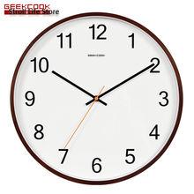 Деревянные бесшумные настенные часы современные большие креативные
