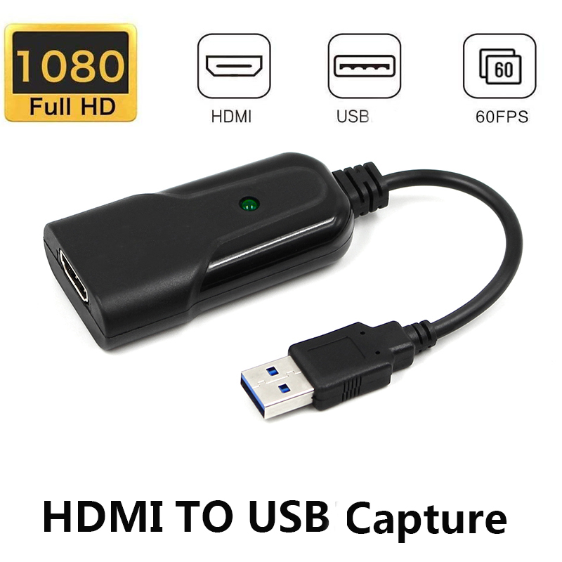 USB2.0 HDMI 1080P30Hz Video Capture HDMI To USB Video Capture Card Dongle Game Streaming Live Stream Broadcast