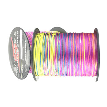 цена на 12 Strands Multicolor Lure Line 100M 300M 500M 1000M PE Braided Wire Multifilament Weaving Net Fishing Line Fishing Tackle