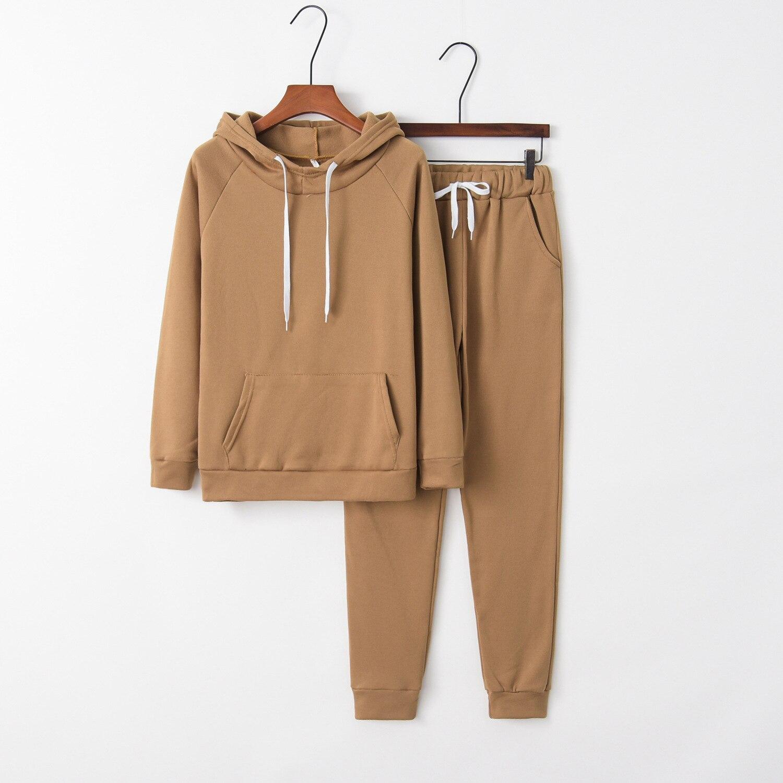 Autumn And Winter Hot Selling AliExpress Wish WOMEN'S Dress Hot Selling Fleece Long Sleeve Hooded Sports WOMEN'S Suit