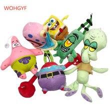 1pc mignon bob léponge jouets en peluche bob léponge/Patrick étoile/tentacules écuyer/eugène/Sheldon/Gary jouets de poupée en peluche pour enfants filles