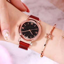 купить Women Watches Fashion Bracelet Watch Woman Watches Relogio Rhinestone Quartz Watch Female Clock Montre Femme relogio feminino дешево
