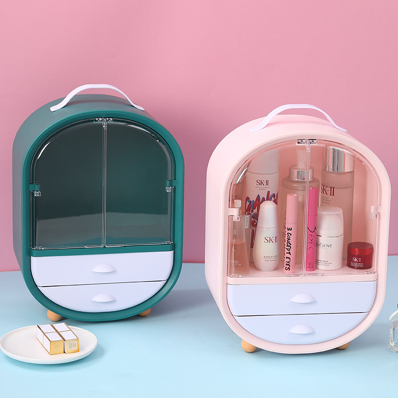 Boîte de rangement maquillage plastique