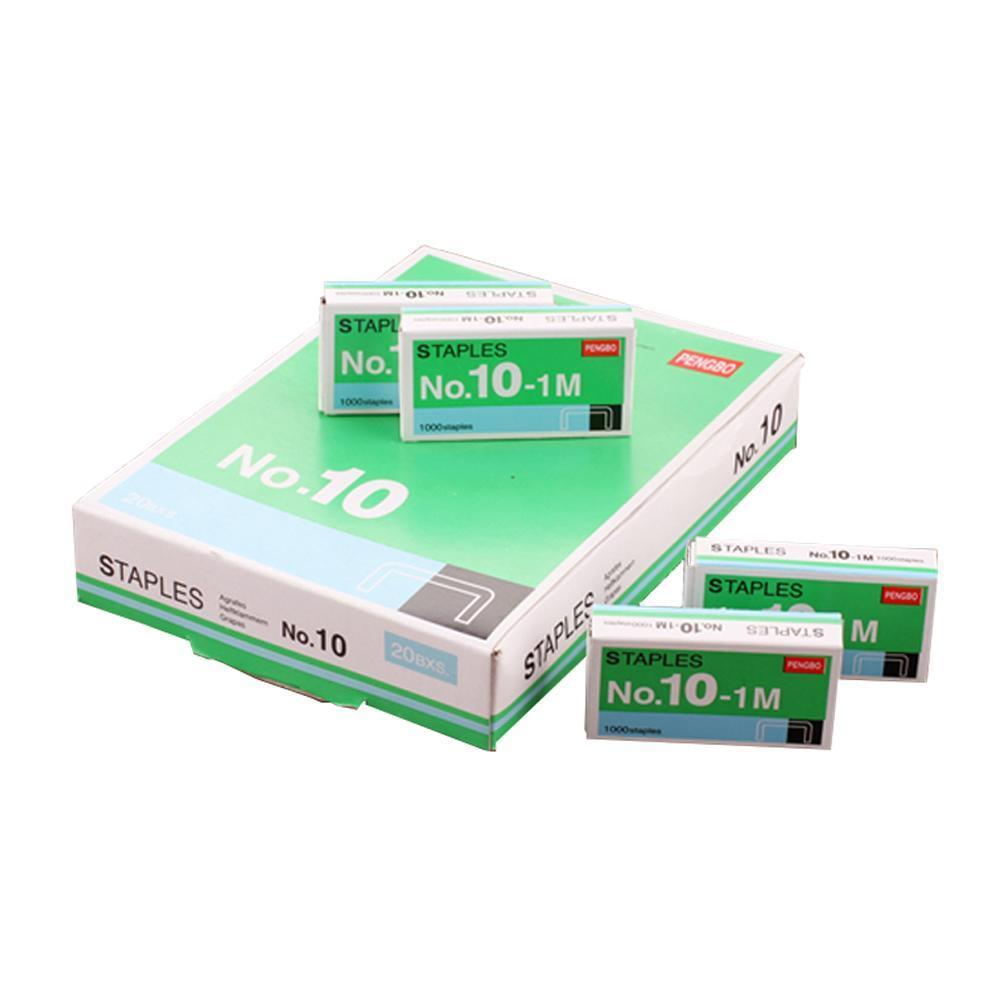1000pcs/box Size No 10 Staples Box For Desktop Stapler Accessories Office Stationery Normal Metal Tapetool Staples Tools W3Q0