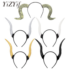 Gothic Headband Headpiece-Sheep-Horn Cosplay-Costume Dress Hair-Hoop Animal Halloween