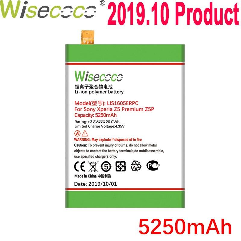 Batería Wisecoco 5100mAh LIS1605ERPC para SONY Xperia Z5 Premium Z5P Dual E6883 E6853 teléfono última producción + número de seguimiento