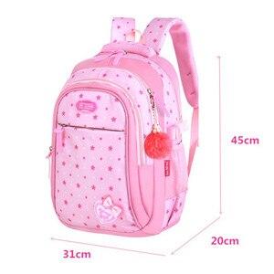 Image 2 - Школьные сумки для девочек со звездами, детский студенческий рюкзак, сумка для начальной школы, детские сумки, рюкзак Mochila Infantil