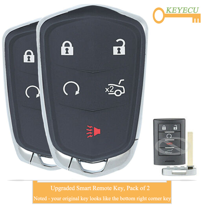 Smart Proximity Remote Key 5 Button for Cadillac SRX 2010-2015 FCC ID:NBG009768T
