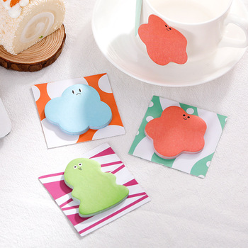 Creative Cute 8 Style Tearable Sticky Notes Can Tear N Times Sticky Notes Sticky Memo Pad Student Office Supplies Stationery New star shaped sticky notes