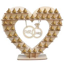 Pan i pani stojak czekoladowy  dla Ferreo Rocher drewniany stojak czekoladowy  dla Hershey Kisses stojak na cukierki ślubne  idealna dekoracja f w Ozdobne półki od Dom i ogród na