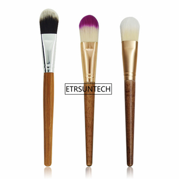 100pcs Makeup Cosmetic Brush Single Bamboo Handle Blusher Universal Powder Foundation Brush F3170