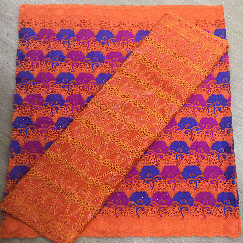 France Clothing Fabric Accessories Material Fo Garment Making African Embroidered With Diamond 5yard Sewing Tulle Fabric  Muslim