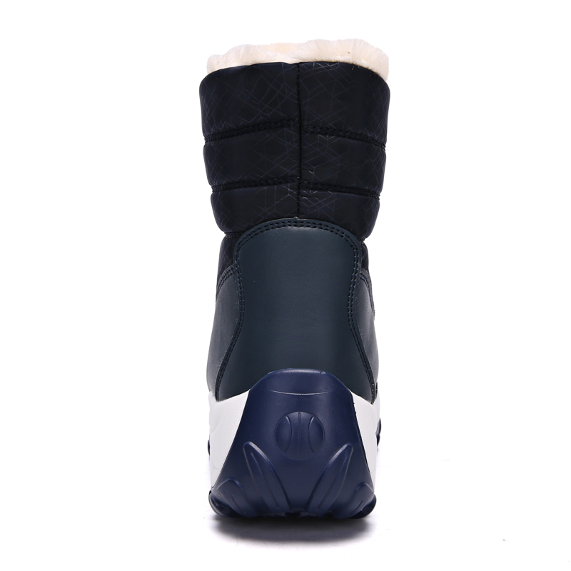 2019 Women Snow boots Waterproof Non-slip Parent-Child Winter Boots Thick Fur Platform Waterproof and Warm Shoes Plus Size 31-42 40