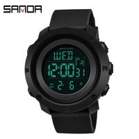 SANDA Top Luxus Sport Uhren Männer Wasserdichte Led Digital Uhr Mode Lässig männer Armbanduhren Uhr Relogio Masculino 2021