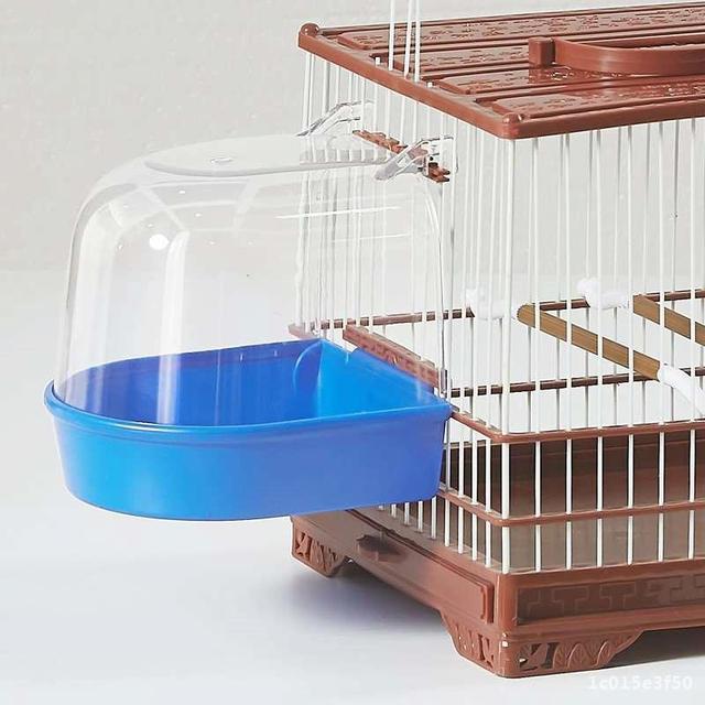 Bird Bath Water Box For Parrots - Parakeets - Lovebirds - Finches  4