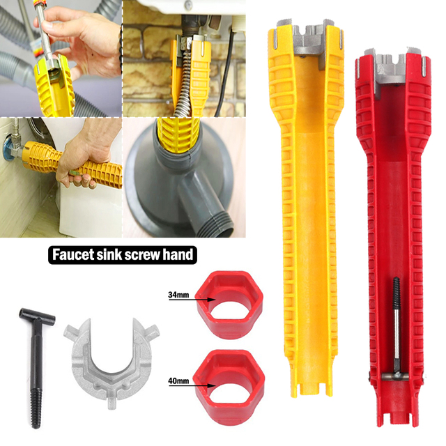 2020 NEW 8 In 1 Flume wrench Anti-slip Kitchen Sink Repair Wrench Bathroom Faucet Assembly Plumbing installation wrench