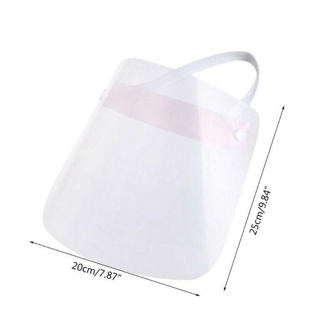 Portable light Transparent Anti-saliva Dust-proof Protect Full Face Covering Mask Visor Shield Protection Masks 5