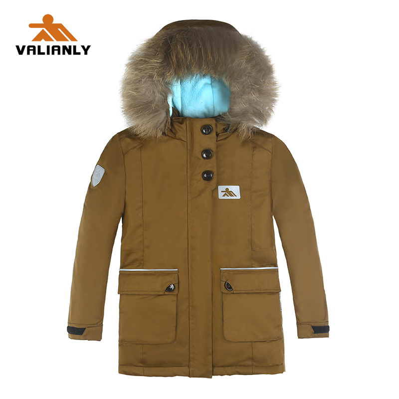 2019 New Collection Kids Girls Winter Parka Cotton Padded Coat Jacket Thick Warm Long Coat Parkas Raccoon Fur Girls Winter Coat