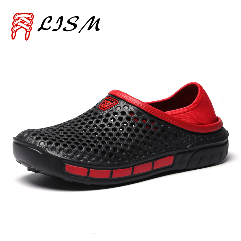 Couples Sandals For The Beach Mens Slippers Outdoor Hole Shoes Cover The Heel Jelly Sandals Beach Shoes Men Unisex Garden Shoes