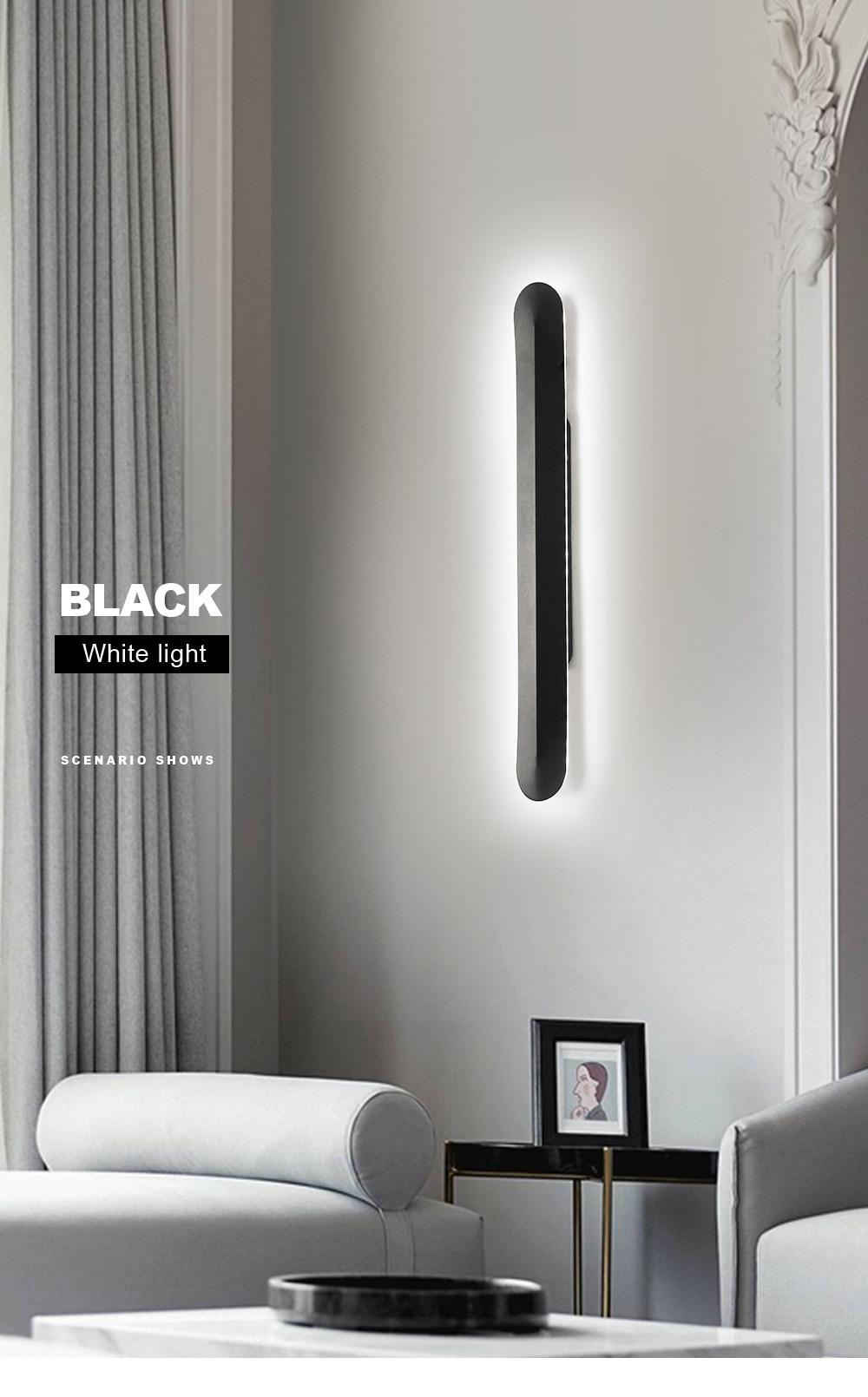 Ferro moderno lâmpada de parede led nordic