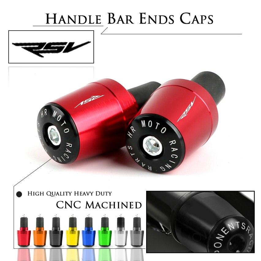 Aluminum Handle Grips End Bar Handlebar Plug Cap Slider for Aprilia RSV MILLE R