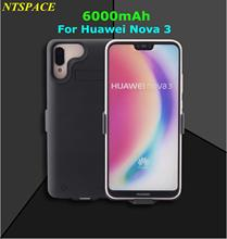 6000mAh External Battery Charger Case For Huawei Nova 3 Portable Power Bank Cover For Nova 3 Backup Battery Charging Case